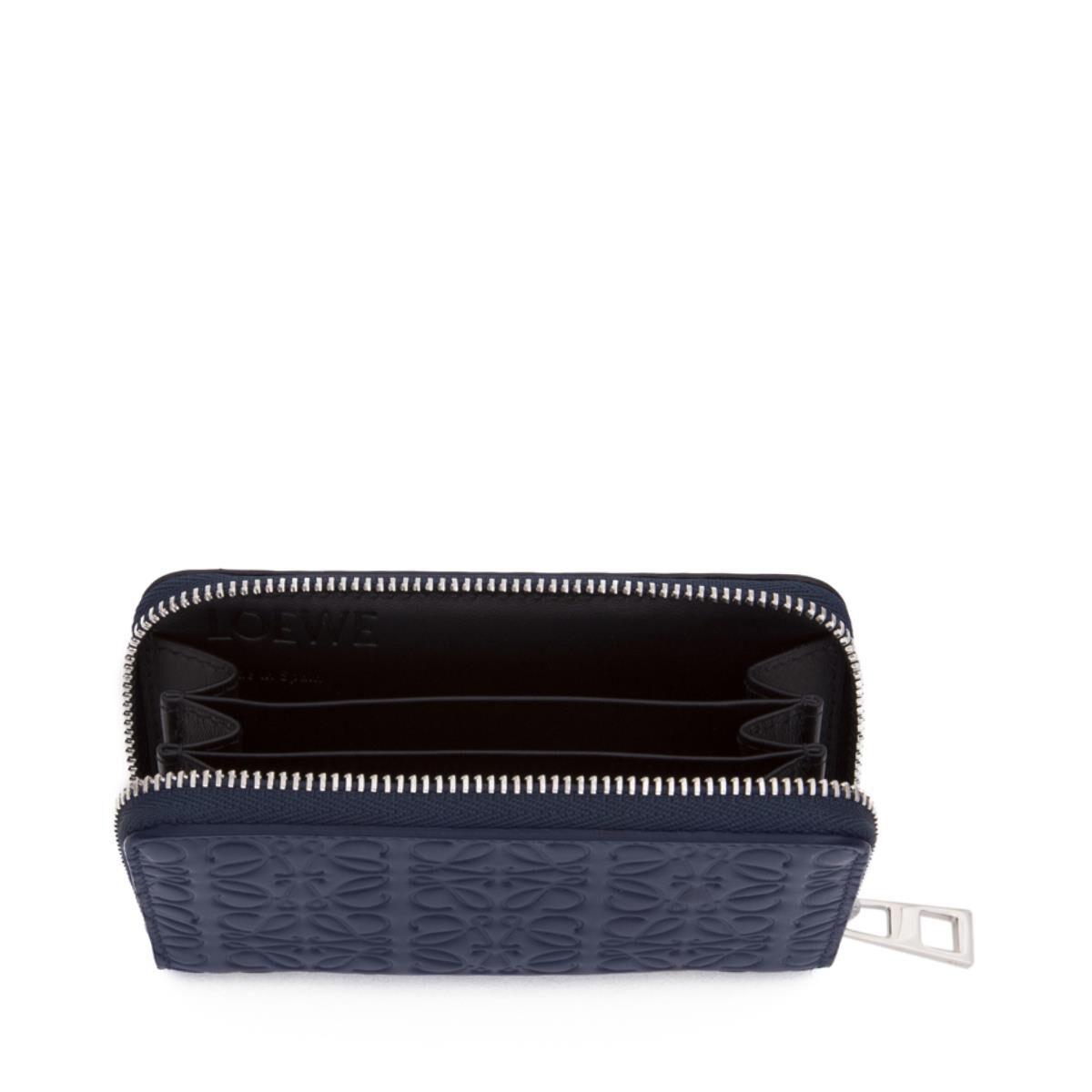 LOEWE Zip Card Holder Navy Blue all