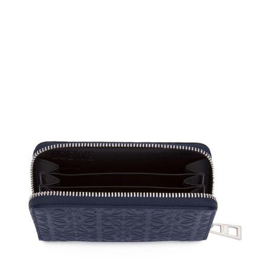 LOEWE Zip Card Holder Navy Blue front
