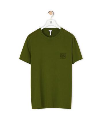 LOEWE Anagram T-Shirt Verde Kaki front