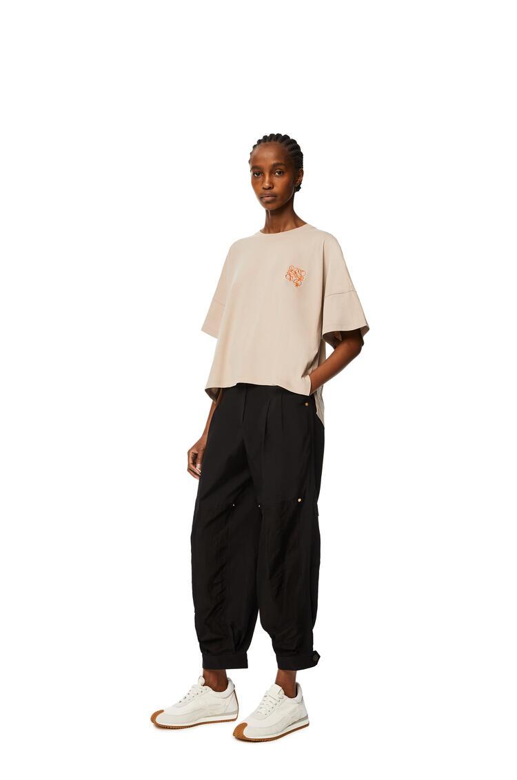 LOEWE Short oversize Anagram T-shirt in cotton Hemp pdp_rd