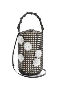 LOEWE Flower Bucket mesh bag in calfskin Black pdp_rd