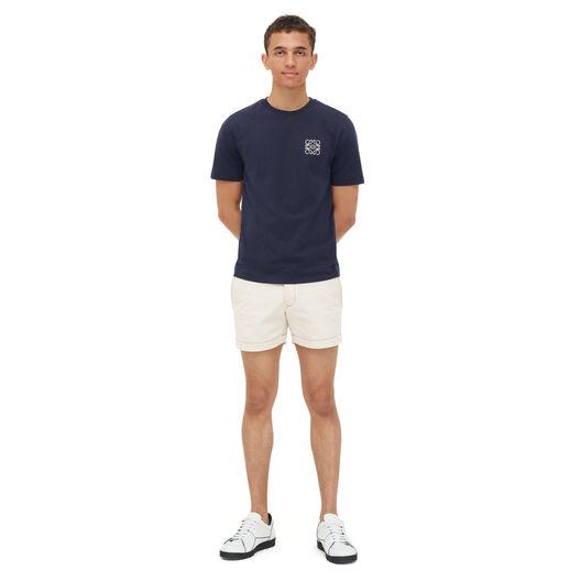 LOEWE Anagram T-Shirt 海军蓝 front