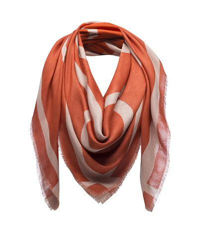 LOEWE 140X140 Scarf Giant Anagram Orange front
