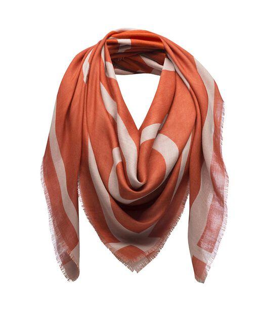 LOEWE 140X140 スカーフ ジャイアント アナグラム オレンジ front