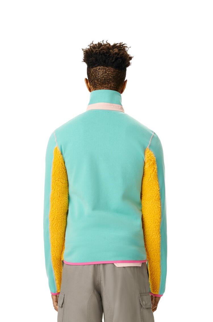 LOEWE ELN HIGH NECK FLEECE JACKET Yellow/Mint pdp_rd