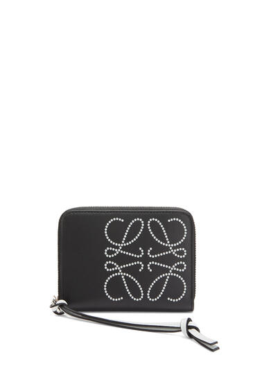 LOEWE 6 card zip wallet in classic calfskin Black/Kaolin pdp_rd