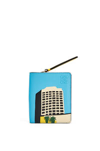 LOEWE L.A. Series compact zip wallet in classic calfskin Yellow/Multicolour pdp_rd