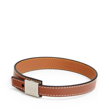LOEWE Double Wrap Bracelet Tan front