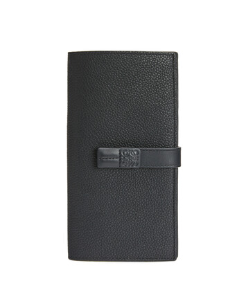 LOEWE Large Vertical Wallet Black front