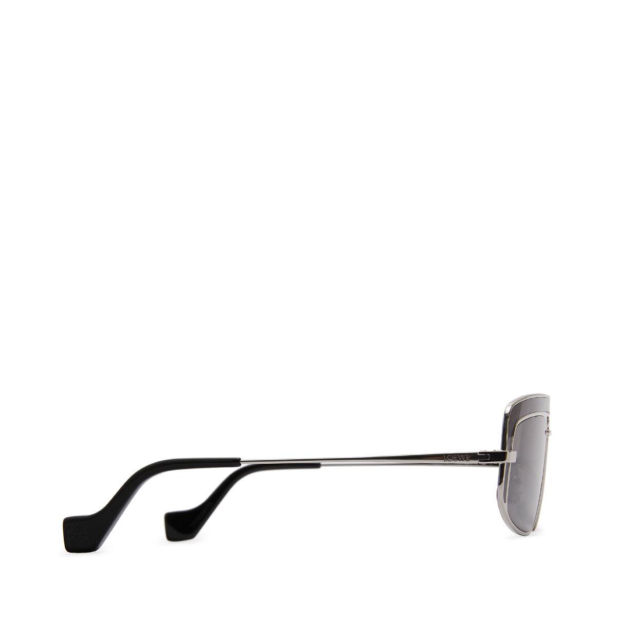 LOEWE Gafas Rectangulares Rodio Mate/Gris front