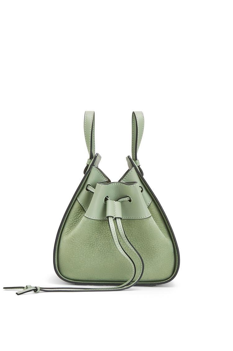 LOEWE Small Hammock Drawstring Bag In Nubuck And Calfskin Pale Green pdp_rd