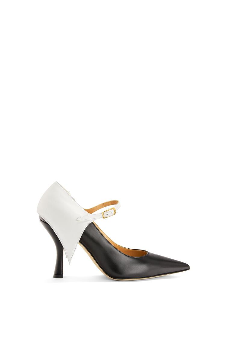 LOEWE Zapato de salón Cape en piel de ternera Blanco/Negro pdp_rd
