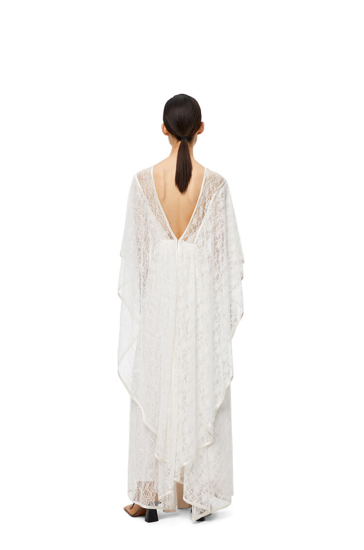 LOEWE Lace Knot Dress In Polyester White pdp_rd