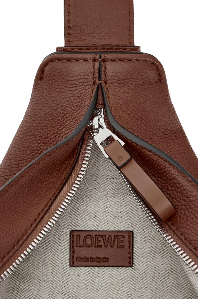 LOEWE Small Anton Backpack In Soft Grained Calfskin Cognac pdp_rd
