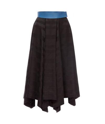 LOEWE Asymmetric Skirt Negro/Azul front