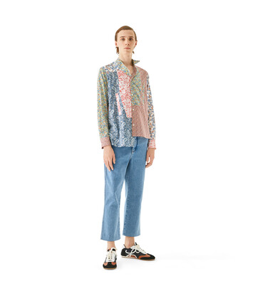 LOEWE Asymmetric Patchwork Shirt Multicolor front