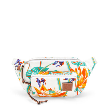 LOEWE Bumbag In Waterlily Canvas White front