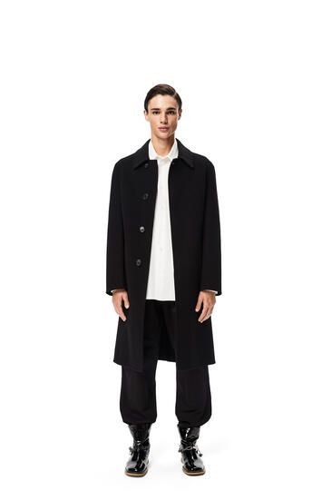 LOEWE Coat in wool and cashmere Black pdp_rd
