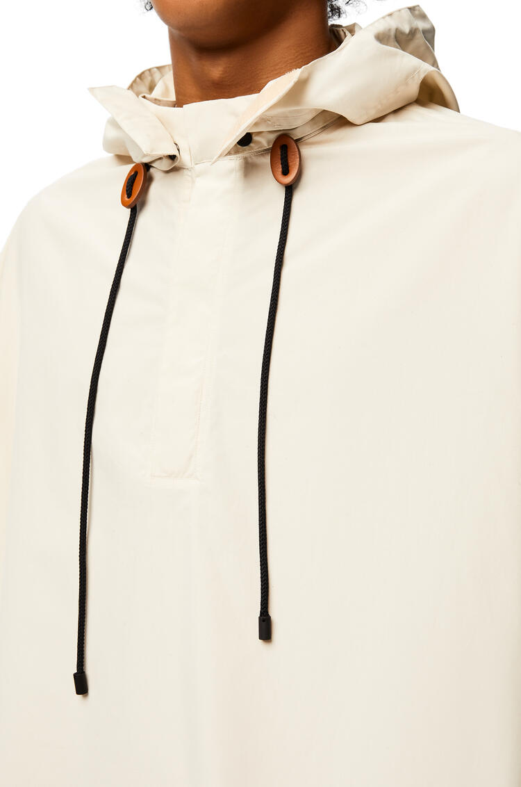 LOEWE Oversize hooded shirt in cotton Ecru pdp_rd