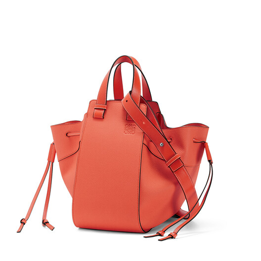 LOEWE Hammock Drawstring Small Bag Vermillion front