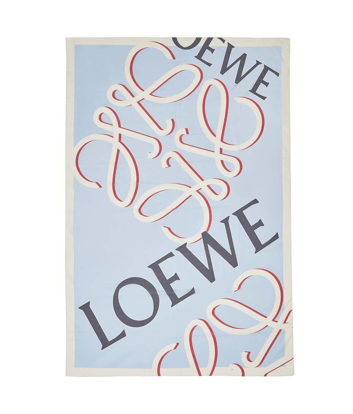 LOEWE 140X200 スカーフロエベアナグラム ライトブルー all