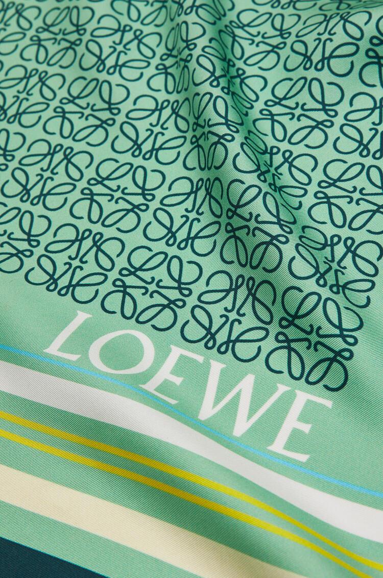 LOEWE 140 x 140 cm scarf in silk Blue/Green pdp_rd