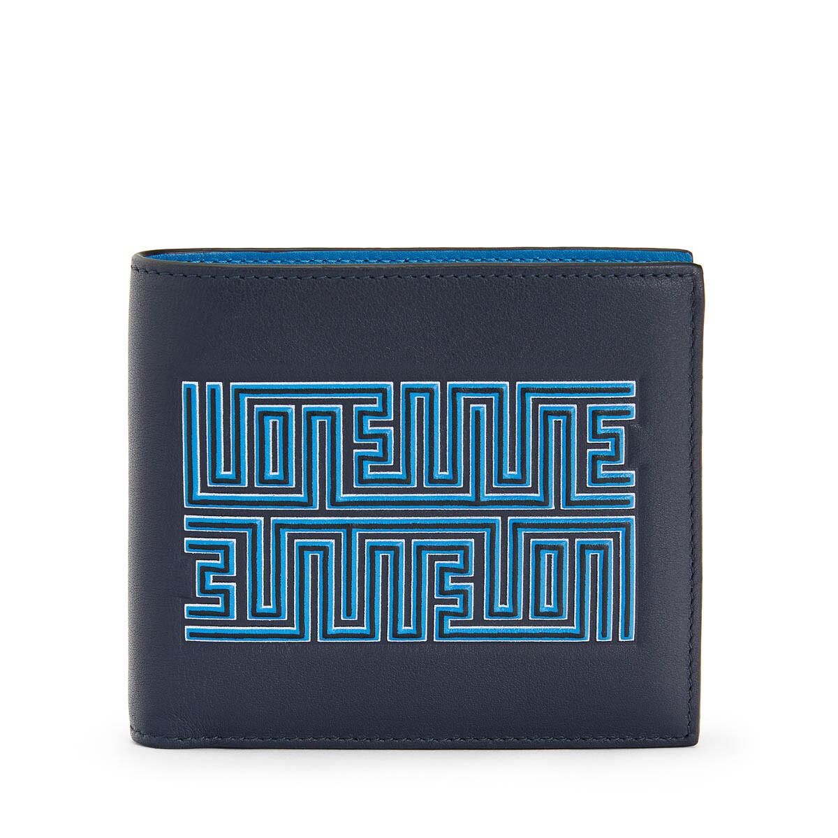 LOEWE Billetero Maze Azul Medianoche/Azul Fluor front