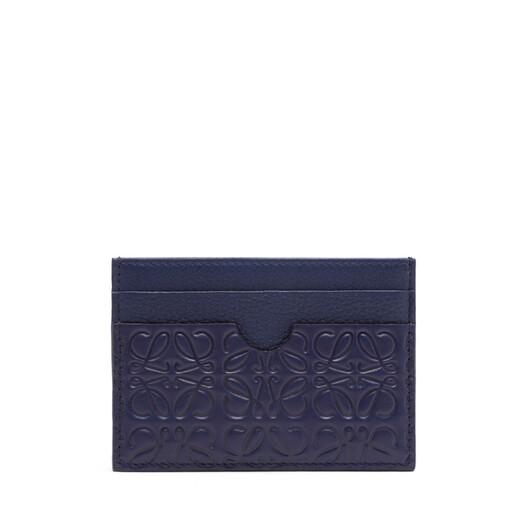 LOEWE Linen Plain Cardholder Navy Blue front