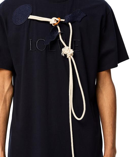 LOEWE Loewe Trim T-Shirt Navy Blue front