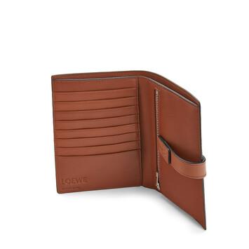 LOEWE Medium Vertical Wallet Steel Blue/Tan front