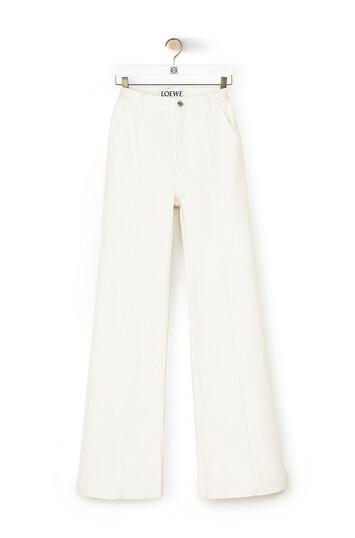 LOEWE Slit Denim Trousers White front