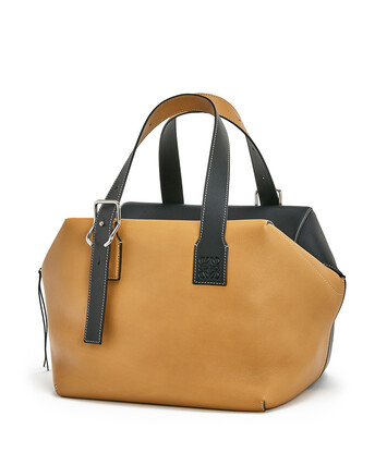 LOEWE Cube Large Bag Light Caramel/Black front