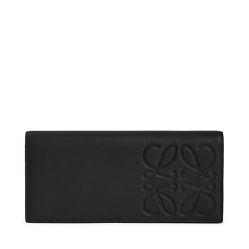 LOEWE ブランド ロング ホリゾンタル ウォレット ブラック front