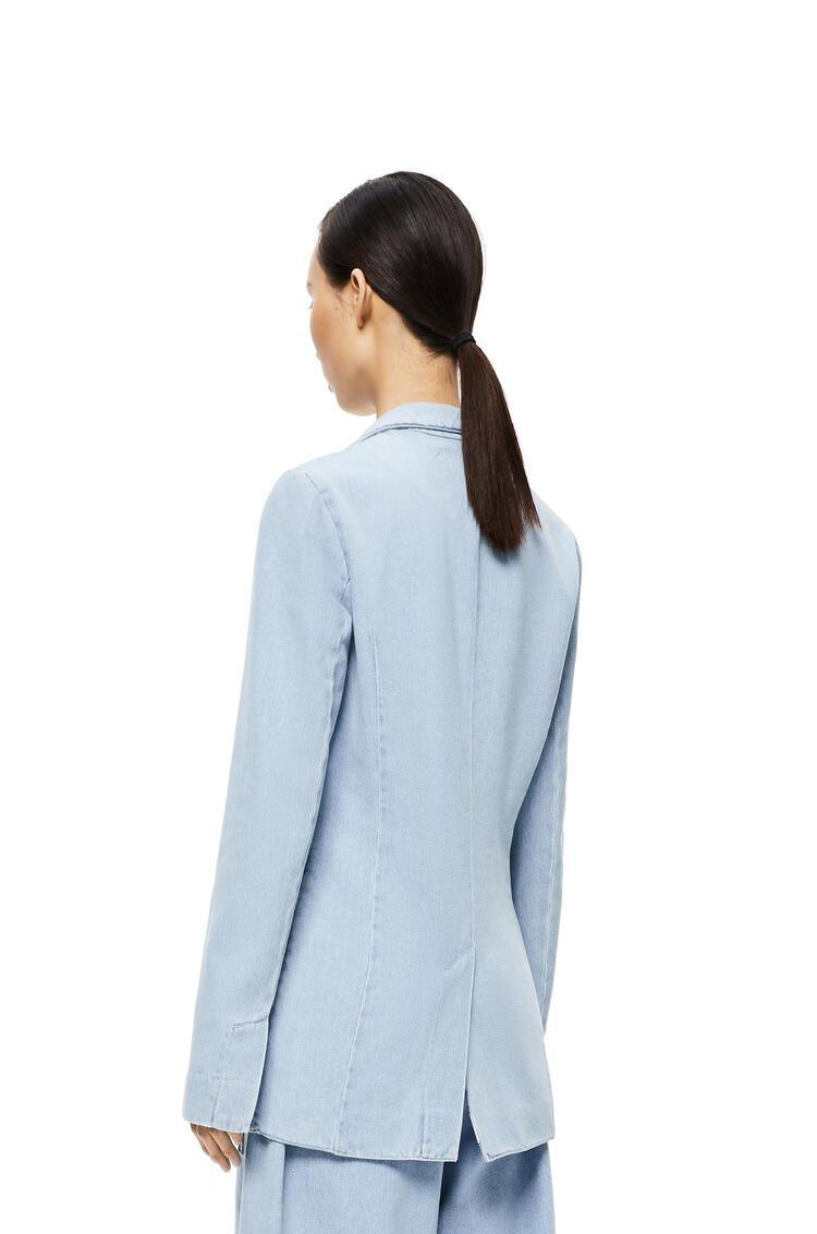 LOEWE Notch Lapel Jacket In Denim Light Blue/White pdp_rd