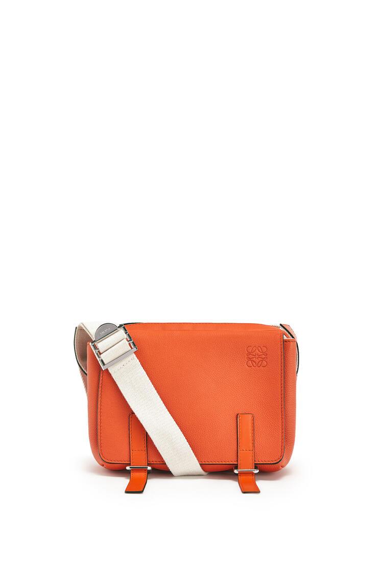 LOEWE XS Military messenger bag in soft grained calfskin Orange pdp_rd