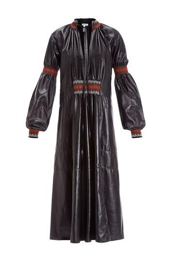 LOEWE Smoke Detail Dress Negro front