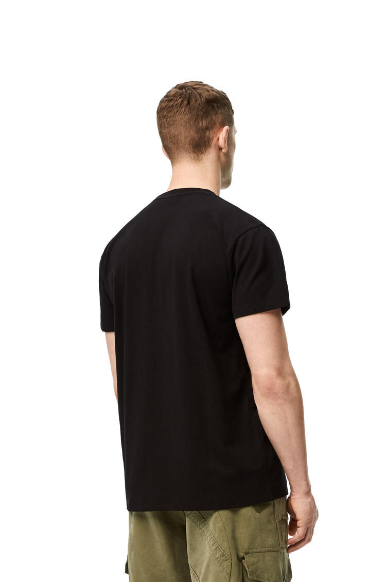 LOEWE Embroidered T-shirt in cotton Black pdp_rd