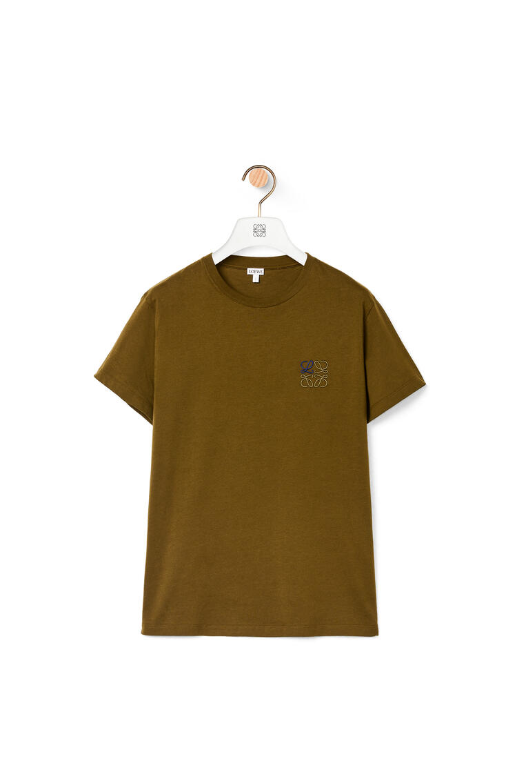 LOEWE Anagram t-shirt in cotton Khaki Green pdp_rd