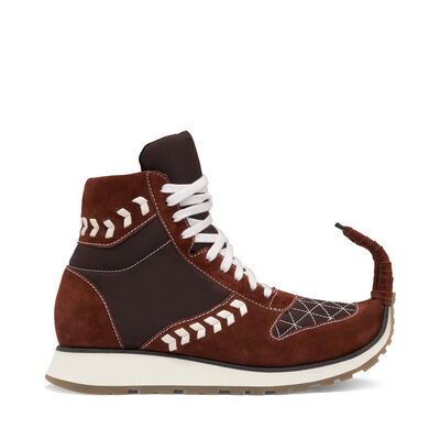 LOEWE High Top Sneaker Dinosaur Brick Red front