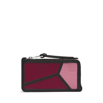 LOEWE Puzzle Coin/Card Holder Wild Rose/Raspberry front
