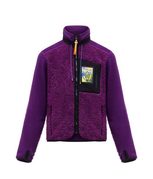 LOEWE Fleece Jacket Turtle Neck 紫色 front