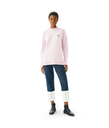 LOEWE Anagram Sweater Pink front