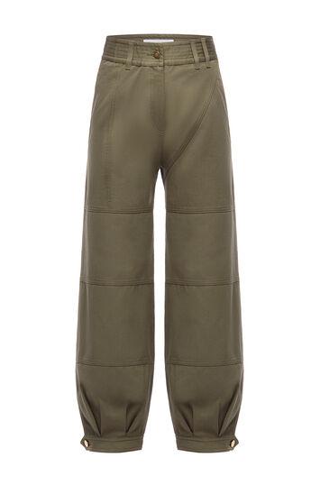 LOEWE Sarouel Trousers Verde Kaki front