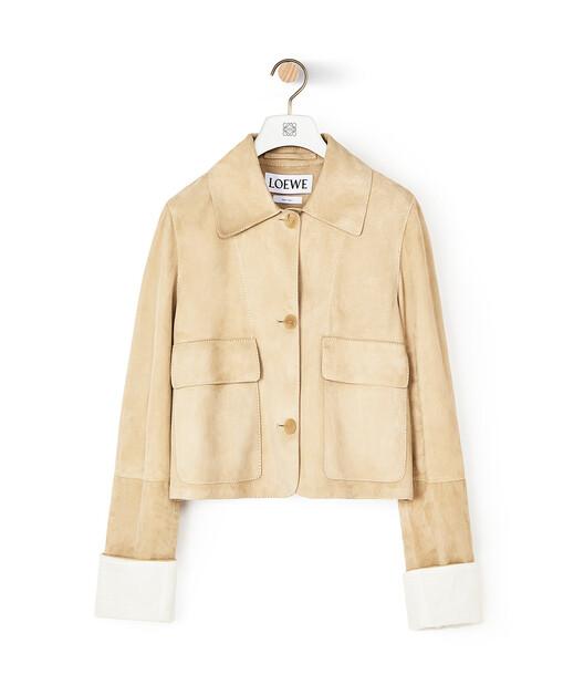LOEWE Button Jacket ゴールド front