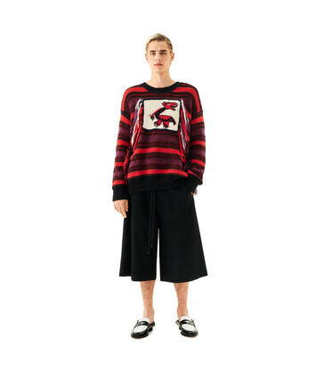 LOEWE Dragon Stripe Sweater Red/Black front
