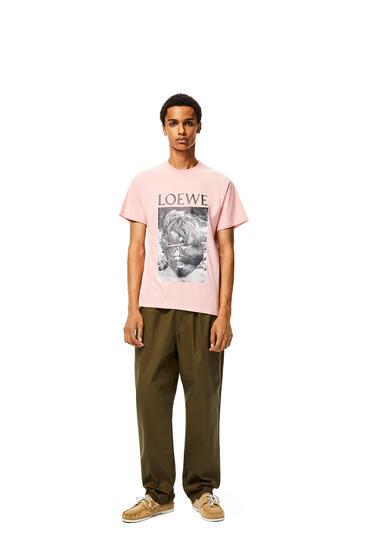 LOEWE Ken Heyman T-shirt In Cotton Baby Pink pdp_rd