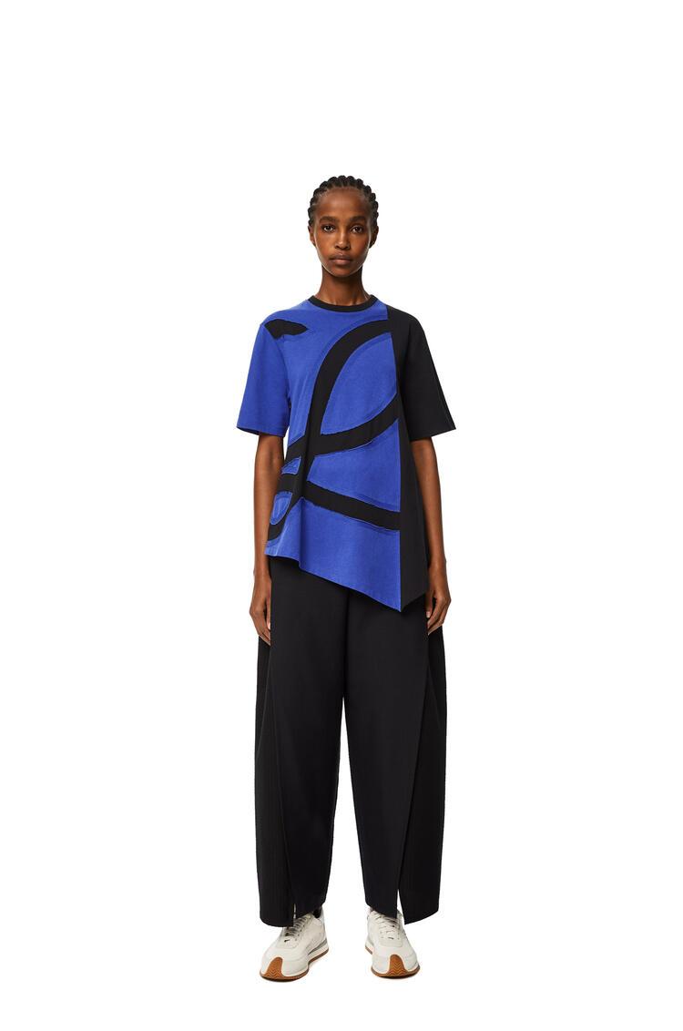 LOEWE 超大号棉质L标志T恤 蓝色/黑色 pdp_rd