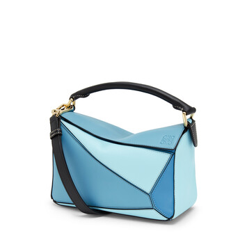 LOEWE Puzzle Small Bag Light Blue/Aqua front
