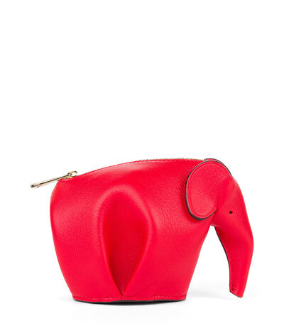 LOEWE Elephant Coin Purse Primary Red front