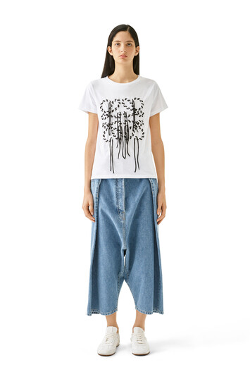 LOEWE Cropped Oversize Jeans 靛蓝色 front